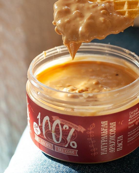 Арахисовая паста Crunchy