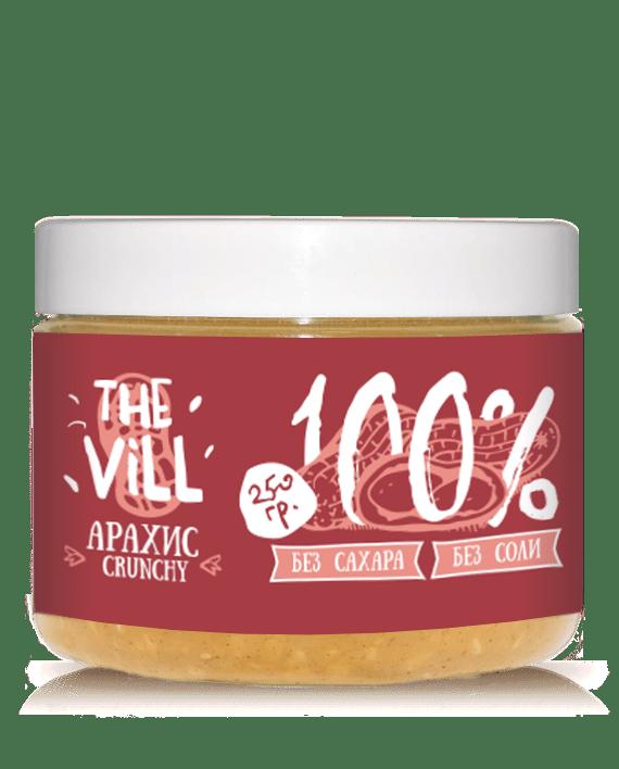 Арахисовая паста crunchy the vill